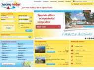 Suncamp Holidays website