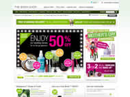 The Body Shop website